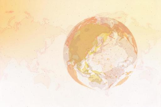 노란색 디지털 네트워크 이미지 흰색 배경