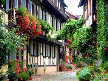 Half-timbered house Germany