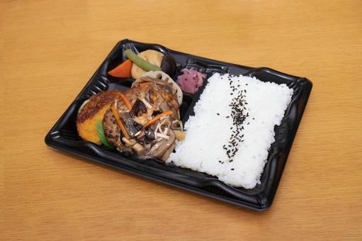 일본식 버섯 햄버거 도시락