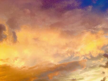 아름다운 석양 노을 하늘