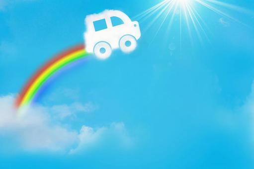 Spider car and rainbow