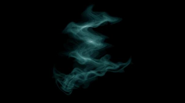 연기 김 하늘색 연기