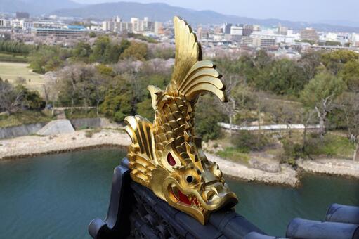 Shutter-end of Nagoya castle