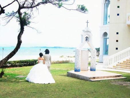Seaside wedding ceremony