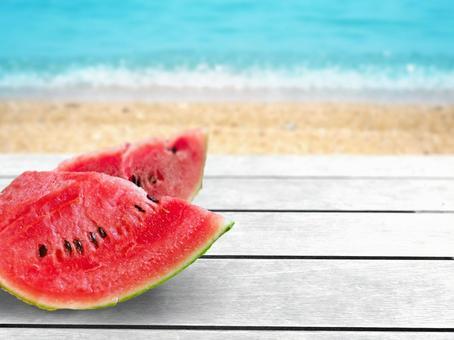 Ocean and watermelon 02