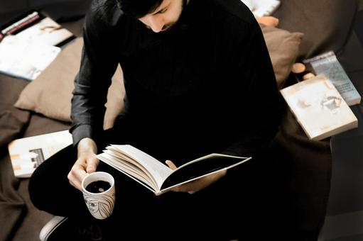 Reading and coffee 4