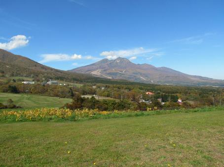 Myoko mountain seen from Kurohime Plateau