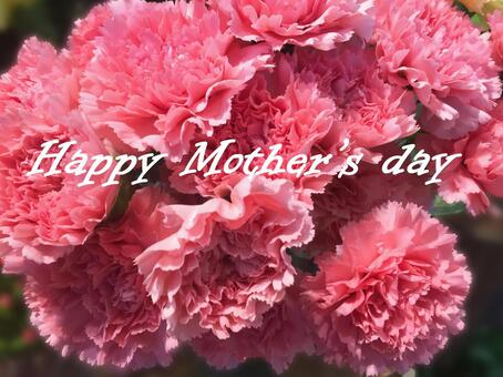 Mother's Day card pink carnation