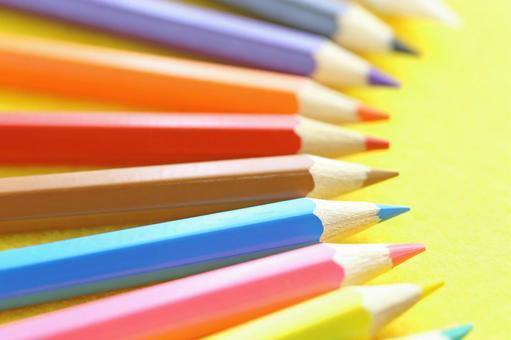 Colorful colored pencils color pencil image material