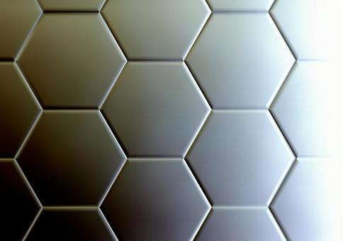 Hexagonal monochrome background