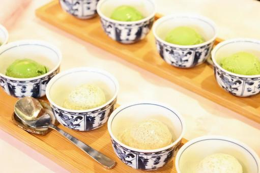 Five-tiered green tea ice cream 12
