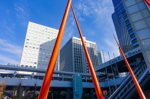 오 사키 (도쿄)의 도시 풍경 오 사키 뉴 시티 게이트 시티 오 사키의 고층 빌딩 군