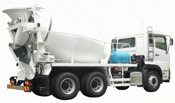 Cut out material Mixer car white back