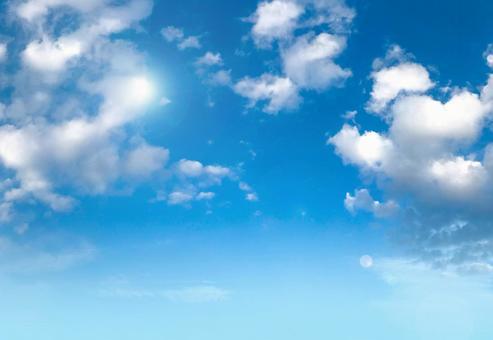 Clear and sunny sky