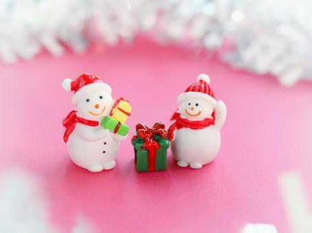 크리스마스 귀여운 눈사람