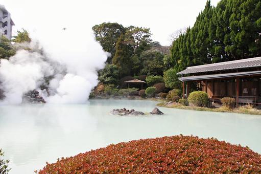 벳푸 지옥 순례 白池 지옥