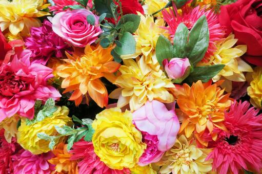 Full colorful various floral background