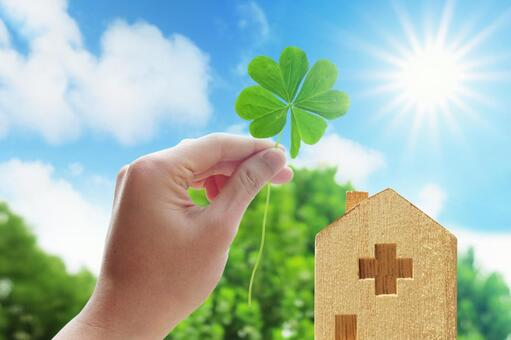 Hope for Discharge-Four Leaf Clover and Sun