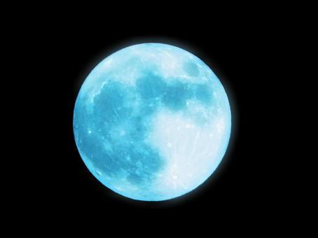 Mysterious blue moon
