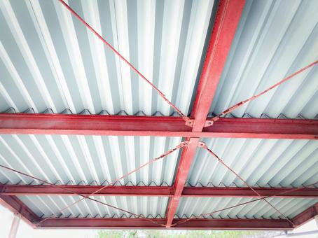 Carports / parking lot roofs / garages / houses / interiors that are likely to be in factories