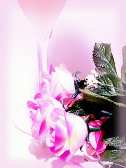 香槟和玫瑰香槟(粉红色的框架)