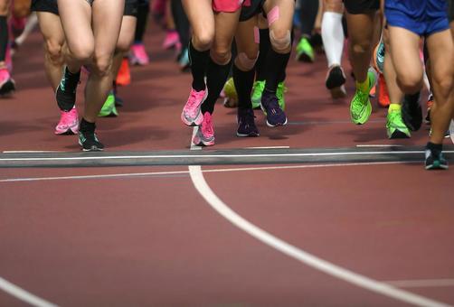 Runner running shoes