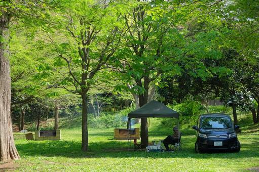 汽車夏令營露營地戶外形像素材