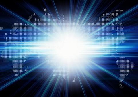 世界地圖和閃光燈