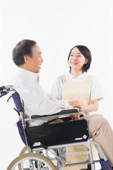 Nurse and wheelchair male 5