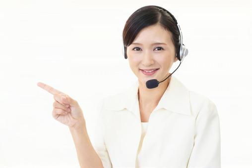 Female operator