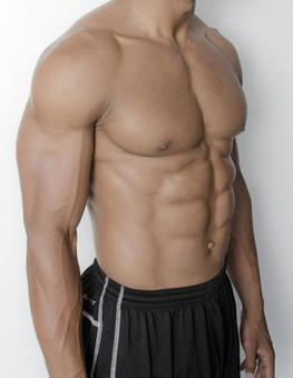 Athlete's abdominal muscle 13