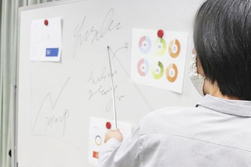 Lecturer holding a seminar ②