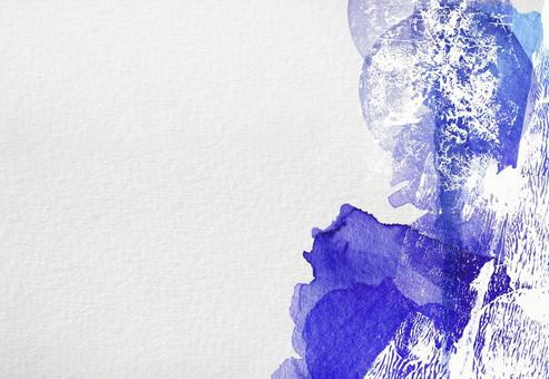 Background Watercolor Alcohol Ink Art Texture Collage Frame Embossed Paper Blue Summer