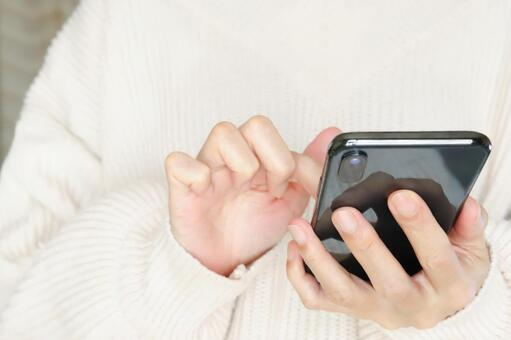 女人經營智能手機