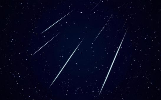Image of shooting stars, meteor showers, and starry sky