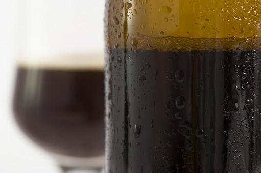 Bottled beer and glass beer