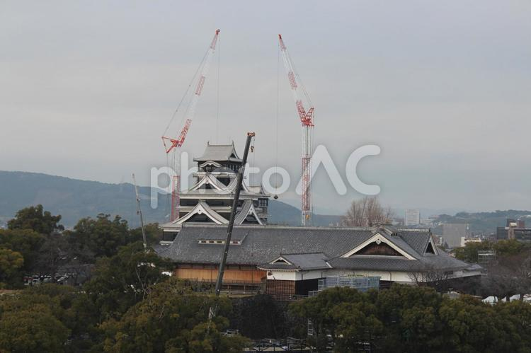 復旧工事中の熊本城 202001の写真