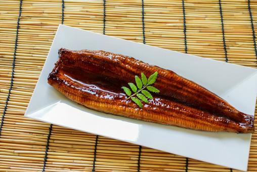 Eel kabayaki and Japanese pepper leaves