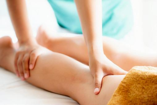Image of beauty treatment salon Foot massage