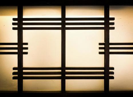 Showa house template glass background