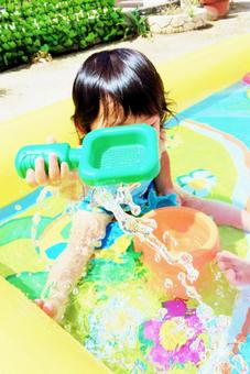 Children playing water