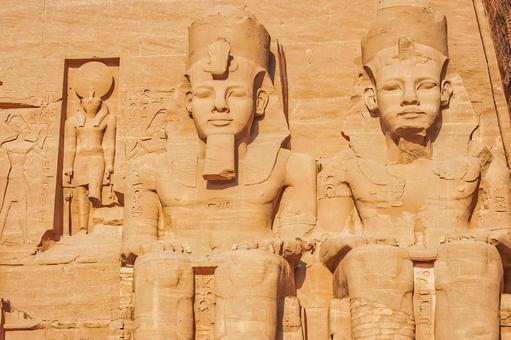 Statue of Sun God Ra and Ramses II (Abu Simbel Temple)
