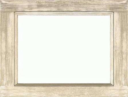 고풍스러운 흰색 나무 프레임 | 배경 소재