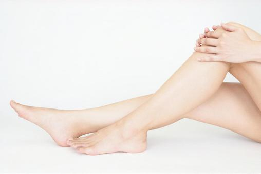 Female legs body care
