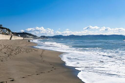 가나가와 현 가마쿠라시 활짝 七里ヶ浜