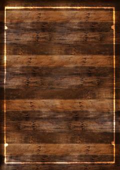 Wood grain background Baked frame