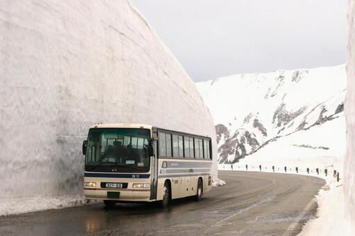 눈의 오오타니 (다테야마 고원 버스)