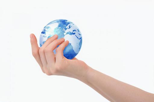 手与地球7