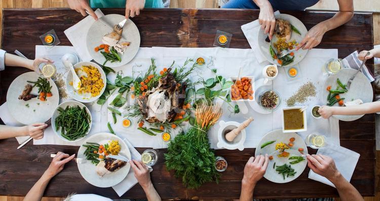 食事風景55の写真