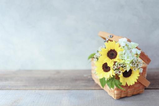 Sunflower arrangement frame